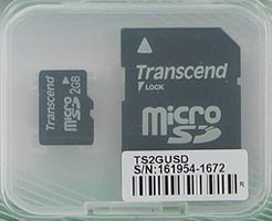Micro SD (Trans flash) 2GB Transcend